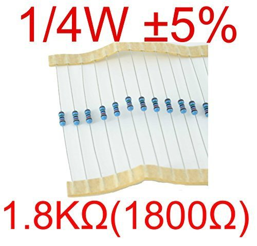 100-Pcs-14Watt-5-025W-1800-Ohm-18k-Carbon-Film-Resistors
