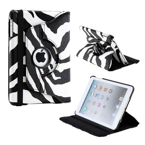 Gearonic TM 360 Degree Rotating Stand Smart Cover PU Leather Swivel Case for Apple iPad Mini and 2013 iPad Mini with Retina Display (Wake/sleep Function) - ()