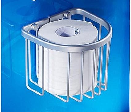 blyc- accesorios baño cesta cesta/aluminio espacio papel higiénico/toallas/ tela porta