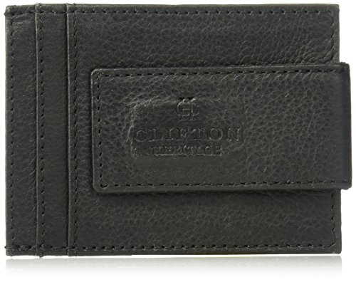 Clifton Heritage Genuine Magnetic Napa Leather Front Pocket Money Clip Slim Minimalist Wallet Made with Powerful RARE EARTH Magnets Plus RFID Blocking