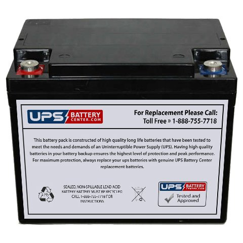Hawker (Enersys) Genesis (0766-2001 G42EP) 12 Volt 42 Amp Hour Sealed Lead Acid Replacement Battery w/Internal Thread Terminal