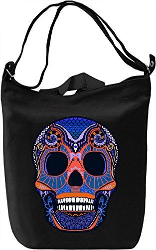 Graphic Skull Borsa Giornaliera Canvas Canvas Day Bag| 100% Premium Cotton Canvas| DTG Printing|