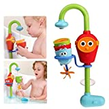 sesame street play dishes - Multicolor Fun Baby Bath Toys Spray Showers Toy Faucet Play With Water Easy For Kids To Turn On And Off By Themselves- Just Press The Face.