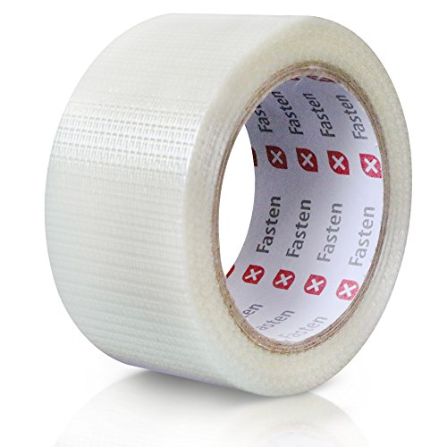 (XFasten Filament Duct Tape, Transparent, 2 Inches x 30 Yards, Extreme Fiberglass Reinforced Cross Strapping Tape)
