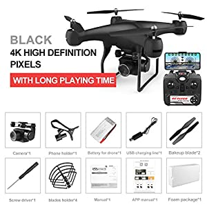 BaSeng 4k RC Quadcopter Drone with 1080P HD WiFi Camera Video is Highly Stable Rc Helicopter F68 Drones for Adults and Kids Easy to Fly for Beginners 5107BjXrKiL