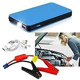 12V 20000mAh Car Jump Starter Multi-Function Battery Charger Mini Power Bank Booster ... (Blue)