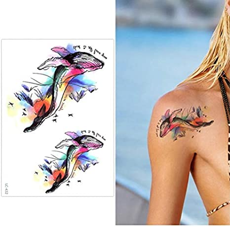 Etiqueta Engomada Del Tatuaje Temporal Del Brazo Grande De La Flor ...