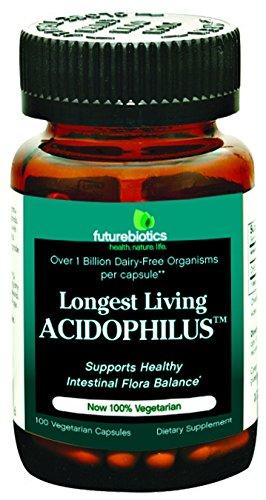 Caps Longest 100 Living - Futurebiotics Longest Living Acidophils 100 Cap