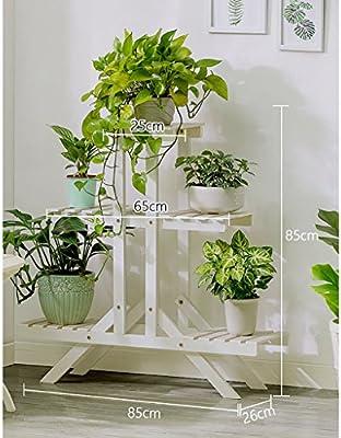 Chairs FL Estantes para Plantas/estanteria Jardin Soporte de Flores de Madera Maciza de múltiples Capas de Aterrizaje Estantería balcón al Aire Libre Sala de Estar Interior estanterias de Jardin: Amazon.es: Hogar