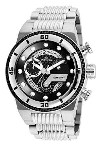 Invicta Men's S1 Rally Quartz Watch with Stainless-Steel Strap, Silver, 30 (Model: 25280)