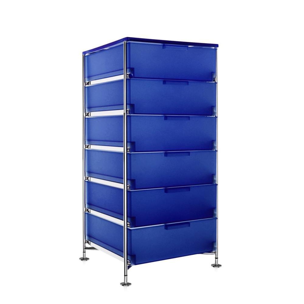 Kartell 2041L2 Container Mobil, 6 Schubladen, kobaltblau