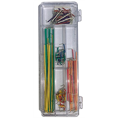 Steren Pc (Breadboard Jumper Wire Kit Solderless 90 Pcs. 22 AWG Solid Wire Ends Prestripped,)