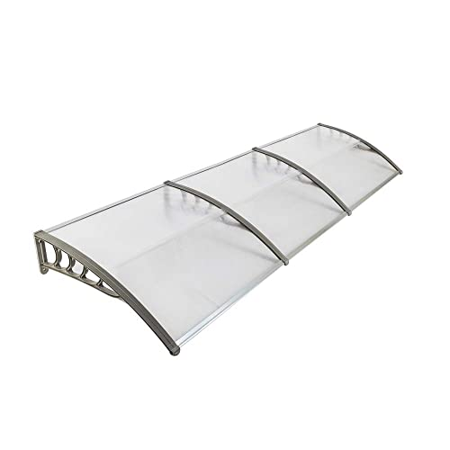 Goujxcy Window Awning Modern Canopy,39.37 x118.11 Patio Door Awning Modern Polycarbonate Cover,Household Application Door Window Rain Cover Eaves