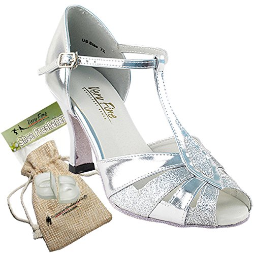 Women's Ballroom Dance Shoes Tango Wedding Salsa Dance Shoes Silver Stardust 2702EB Comfortable - Very Fine 3