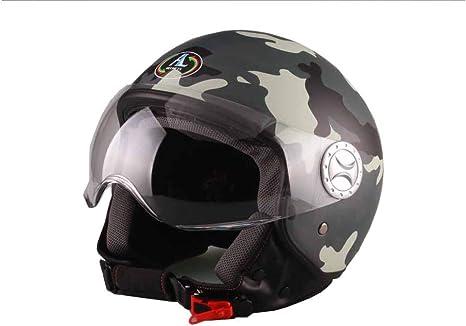 101 CAMOUFLAGE-MIMETICO GRIGIO MISURA S AL Helmets CASCO DEMI-JET MOD