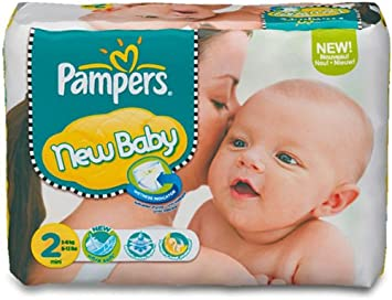 PAMPERS Pañales New Baby Talla 2 mini (3-6 kg) - Pack ...