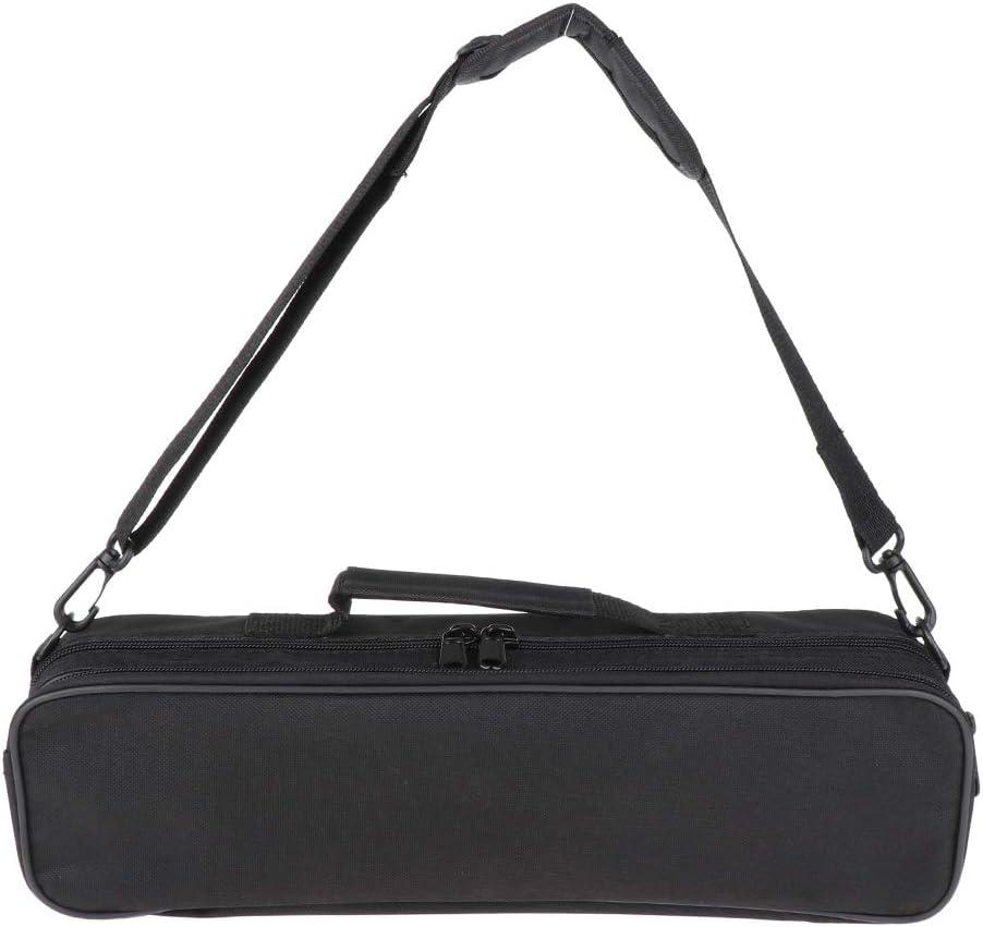 Shoulder /& Hand Carrying Flute Case Bag Black