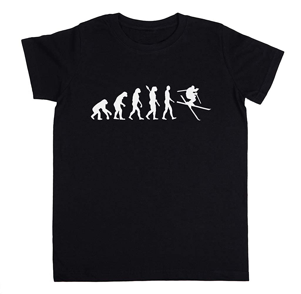 Evoluzione Sciare Freestyle Uomo Unisex Ragazzi Ragazze T-Shirt Nero Tutti Dimensioni Unisex Kids Boys Girlss T-Shirt Black