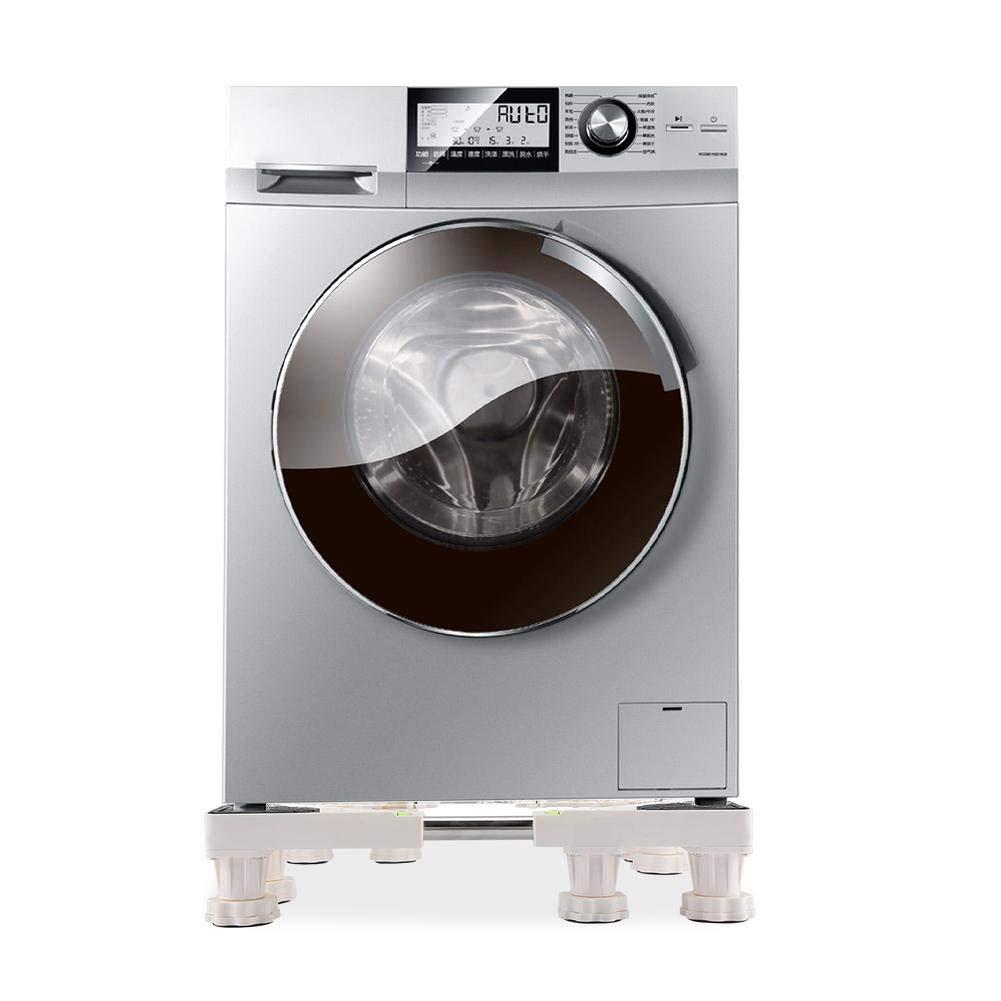 Universal Full Adjustable Squared Appliance Roller Base Holder Bracket 4//8 Feet Washing Machine Base Stand 4 Feet for Washing Machine and Refrigerator