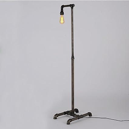 ZXLDD Lámpara de pie Vintage Personalidad Creativa de Hierro ...