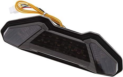 B Baosity Universel LED Queue Feu Arri/ère Pause Lampe Stop Lampe Rouge Lentille pour Yamaha MT-09 MT09 FZ09