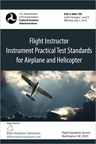 flight instructor instrument practical test standards for airplane