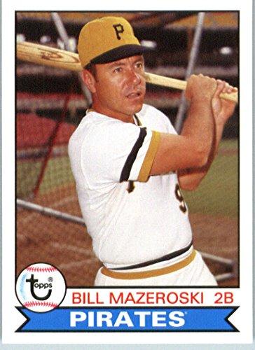 (2016 Topps Archives #118 Bill Mazeroski Pittsburgh Pirates Baseball Card in Protective Screwdown Display)