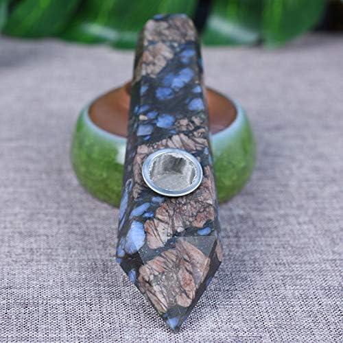 自然と美しいブルー高品質パイプ、80ミリメートル、110ミリメートル程度の長さ、2PCSフィルターと1PCブラシ
