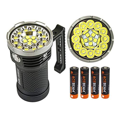 Basic Max 2 Light - Acebeam X80-GT Flashlight 18 CREE XHP50.2 LEDs with Max 32500 lumen Waterproof-IPX8 Underwater 30 meters