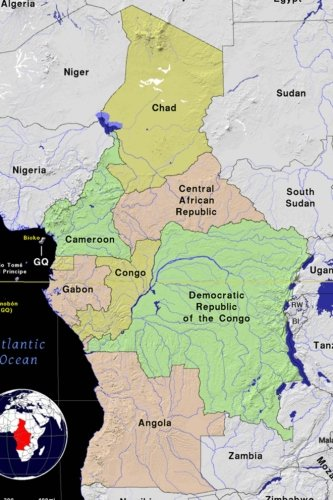 Read Online Modern Day Color Map of Central Africa Journal: Take Notes, Write Down Memories in this 150 Page Lined Journal ebook