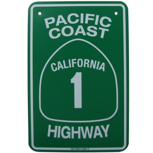 Pch California Highway Ca Hwy Road Street Traffic Sign By Sw