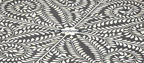 Round Bone Inlaid Tray Moroccan Design by Luxury Handicrafts (Image #2)