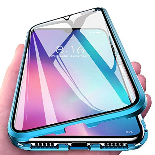 Bounceback ® OnePlus Nord Case Cover 2 in1 Front and Back Tempered Glass 360º Magnetic Metal Bumper Transparent Back Cov