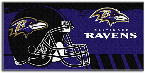 - NFL Baltimore Ravens 34x70 Oversized Cotton Beach Towel