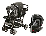 Graco Ready2Grow Duo Stroller (Glacier) & Click Connect 35 Car Seat (Gotham)