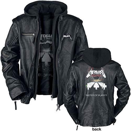 0298fe88abf266 Unbekannt Metallica Master of Puppets Lederjacke schwarz M: Amazon.de:  Bekleidung