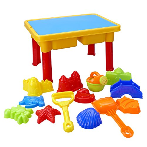 Holy Stone Sand and Water Table with Beach Play Set for (Lagoon Water Park)