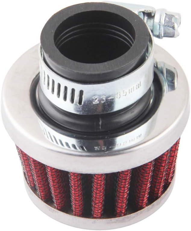 Automobil Refitted Luftfilter /Änderung Kleine Pilz-Kopf-Air-gefilterte Pilz-Kopf-Air Autozubeh/ör Rot 1 Satz Filter