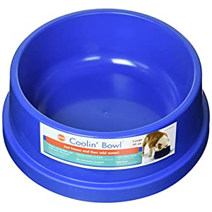 K&H Pet Products Coolin' Pet Bowl 96oz. Blue – Fresh Cool Water For Your Pet!