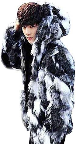 ファーコート 毛皮コート ファーパーカー ジャケット メンズ レザー シンブル バックジャケット アウター 暖かい おしゃれ カッコイイ 秋 冬 ストリート系 長袖