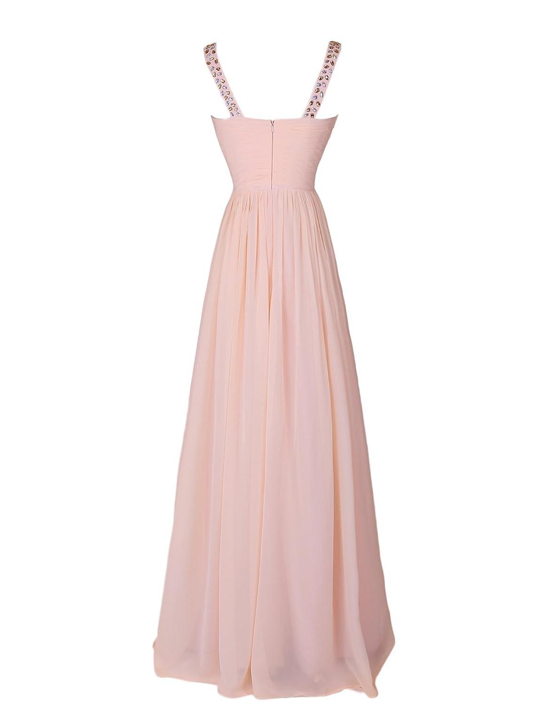 Dressystar Beaded Sweetheart Straps Chiffon Prom Cocktail Dress Floor Length