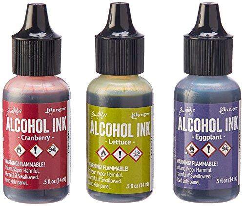 - Ranger Adirondack Alcohol Ink 1/2-Ounce 3/Pkg, Farmers Market, Cranberry/Lettuce/Eggplnt