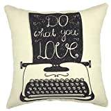 Decorative Pillow Cover - YOUR SMILE Cotton Linen Square Decorative Throw Pillow Case Cushion Cover 18x18 Inch(44CM44CM) (YS216)