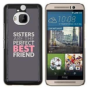 """Be-Star Único Patrón Plástico Duro Fundas Cover Cubre Hard Case Cover Para HTC One M9+ / M9 Plus (Not M9) ( Las hermanas son los mejores amigos"""" )"""