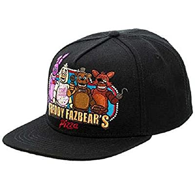 bioWorld Black Freddy Fazbear's Pizza Snapback Baseball Cap by Japan VideoGames