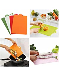 Get 4X Antibacterial Flexible Cutting Board Chopping Mat compare