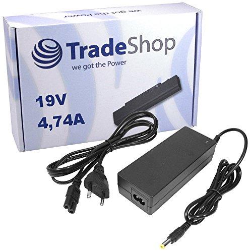Notebook Laptop Netzteil Ladegerät Ladekabel Adapter 19V 4,74A 90W inkl. Stromkabel für Toshiba Satellite P775 R830 A300 L300D L350 L350D L550 L650D L655 L655DC C660 C660D L670 C670 C670D C850