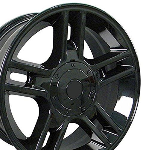 20x9 Wheels Fit Ford Trucks - F-150 Harley Style Rims - Black - SET - Ford F150 Harley Davidson Wheels