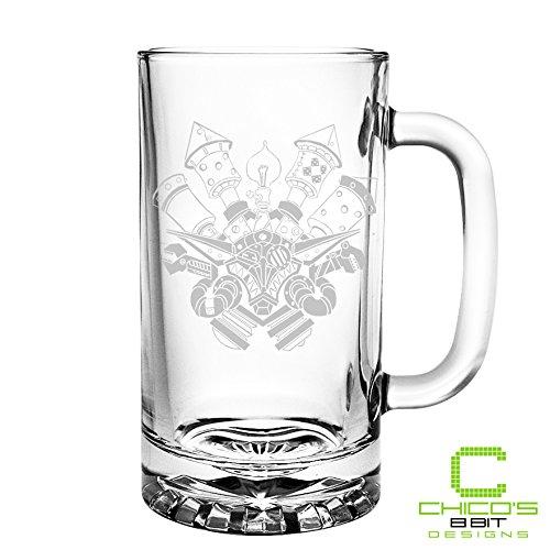 World of Warcraft - Goblin Crest - Etched Beer Mug