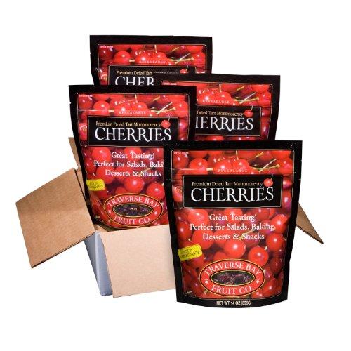 Traverse Bay Dried Cherries - 4/14 oz. pks.